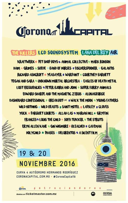 Confirmado el cartel del Corona Capital 2016