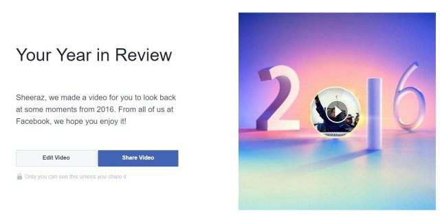 Facebook: el resumen de tu 2016
