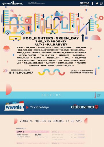 Corona Capital 2017: el cartel confirmado