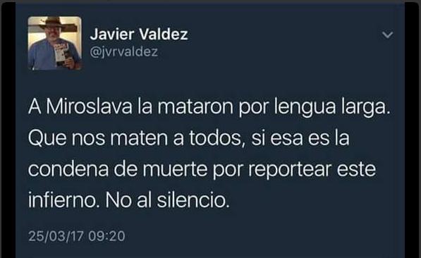 Javier Valdez, el sexto periodista asesinado en México en 2017