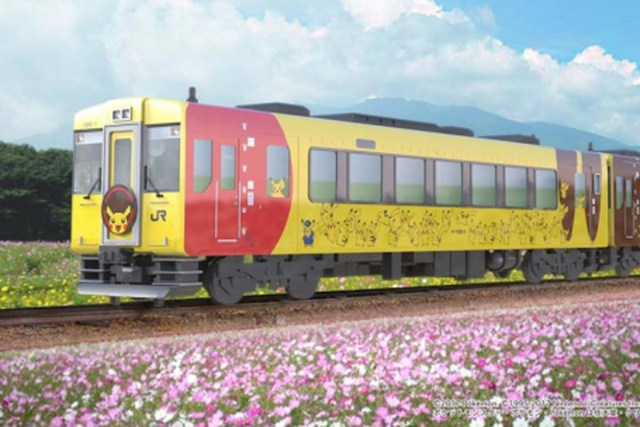 Viaja en el tren de Pikachu