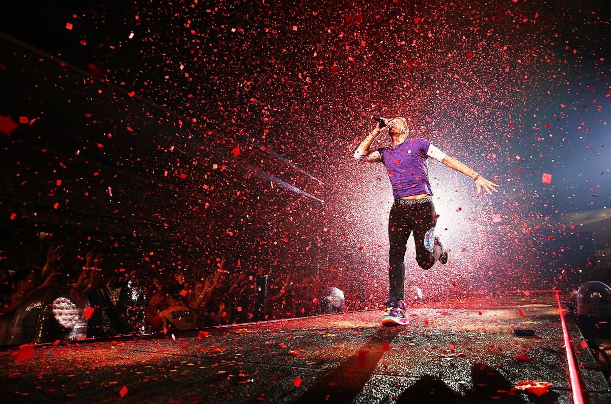 """Coldplay y sus """"gracias totales"""": cantan """"De Música Ligera"""" en Argentina"""