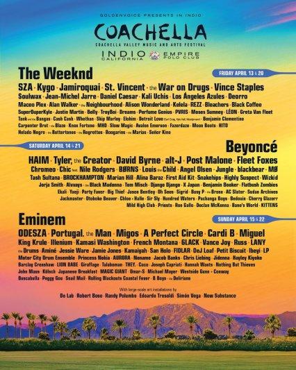 Coachella da a conocer su lineup del 2018 y Los ángeles azules estarán presentes