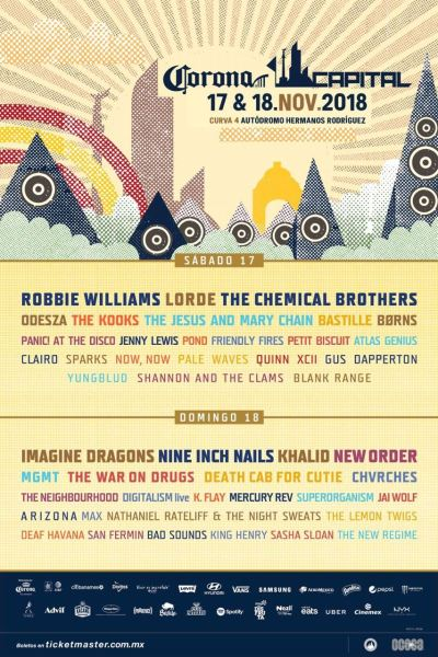 Cambios en el cartel del Corona Capital: The Jesus and Mary Chain suple a Manic Street Preachers