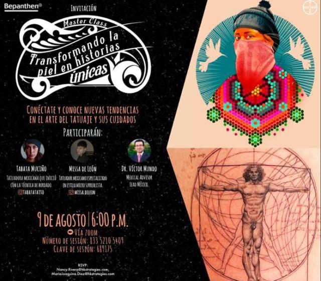 Tatuadores mexicanos ofrecerán masterclass gratuita