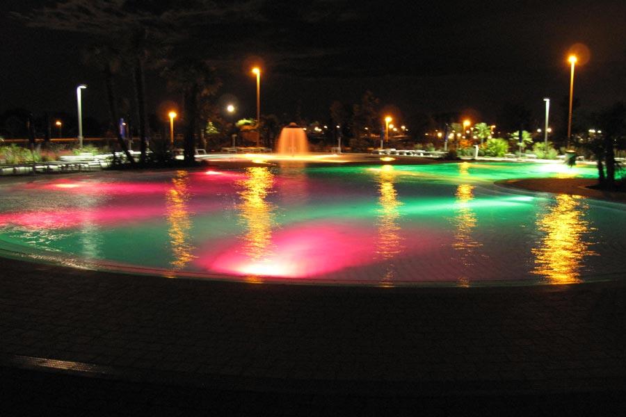 Illuminazione per piscina faretti piscine