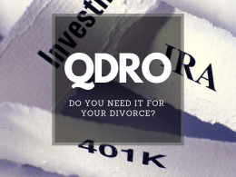 What you need to know about QDRO