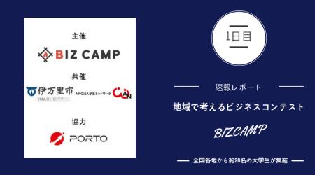 【速報】伊万里に全国の大学生が集結!BIZCAMP1日目