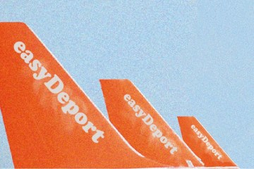 planes overlaid with the word Easy Deport
