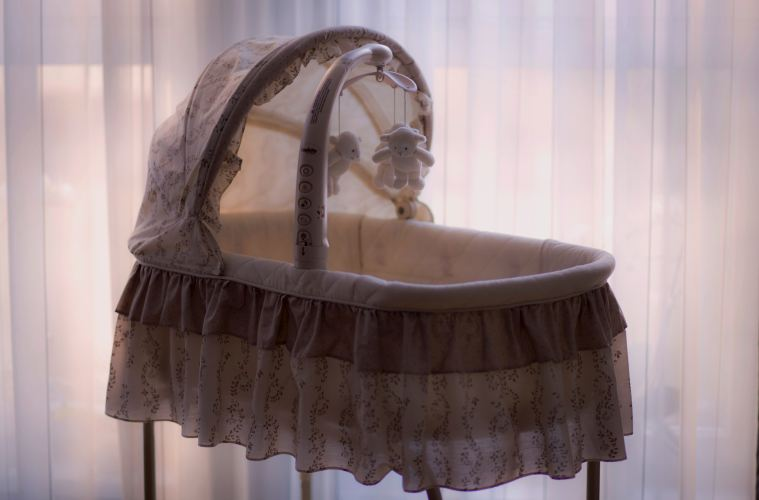 image of a baby's crib