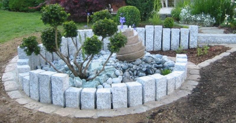 garten mit steinen und kies bilder » terrassenholz, Hause und garten