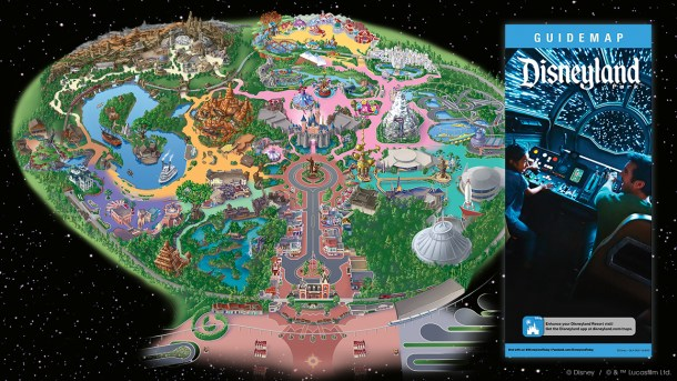 Preview: Disneyland map to Galaxy's Edge