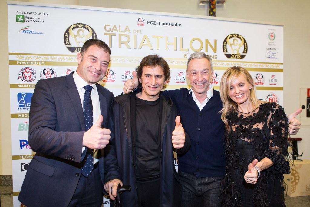 Antonio Rossi, Alex Zanardi, Linus, Justine Mattera, i super ospiti del Gala del Triathlon 2018