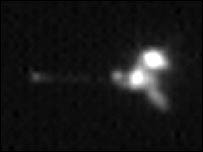 Mars Odyssey As Seen From Mars Global Surveyor