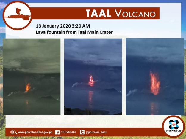Lava Fountains Spotted Sunday Night