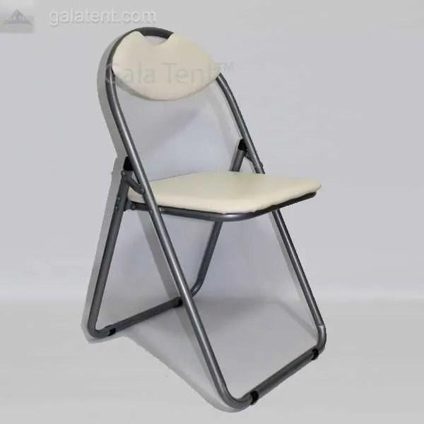 padded folding chairs uk foam chair bed buy retro cream