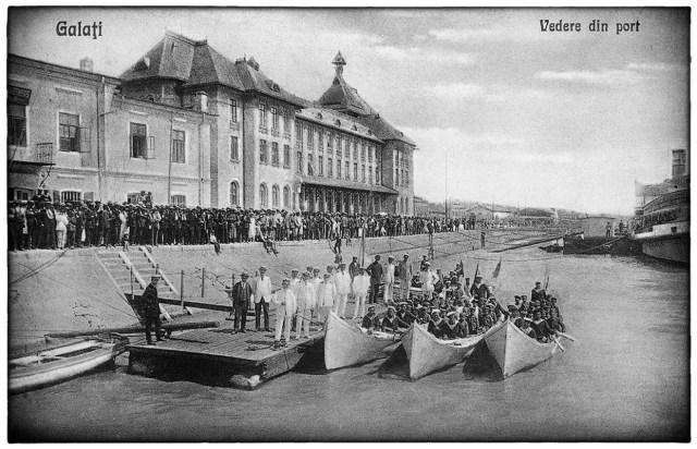 Galati - Vedere din port - anul 1928 - Ziua Marinei