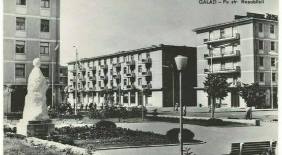 Statuia Lui Mihai Eminescu, 1962, Galați
