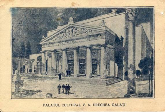 Palatul Cultural V. A. Urechia, actualul Teatru Dramatic Fani Tardini