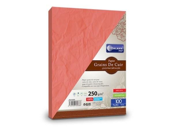 grains de cuir A4-100-rouge