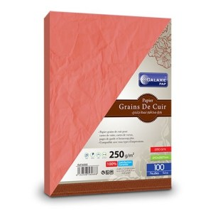 grains de cuir A4-100-rouge