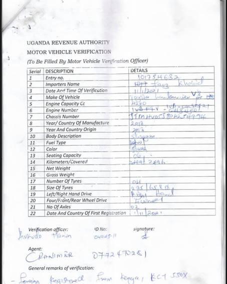 Bobi's car documents