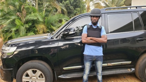 Bobi owns a bullet proof car courtesy of supporters