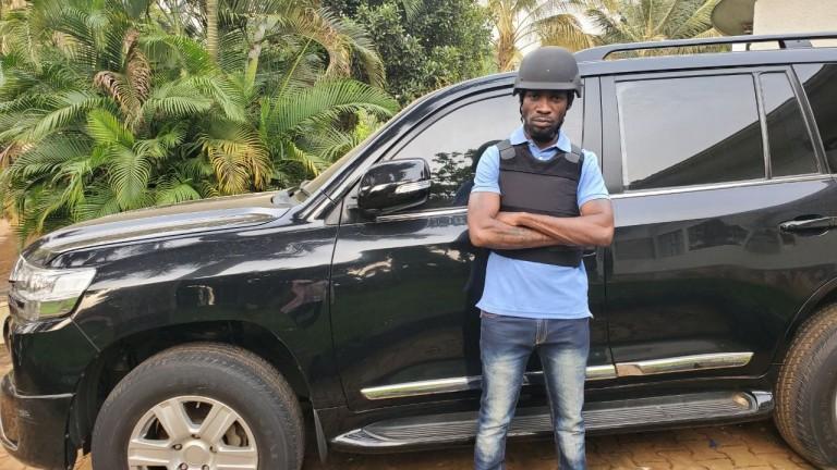 Bobi Wine chilling on his ride