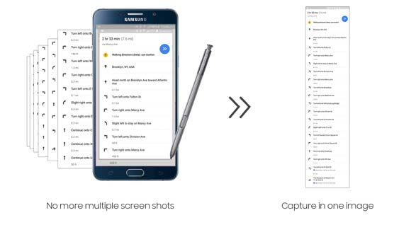 How to take scrolling screenshot on Galaxy Note 5