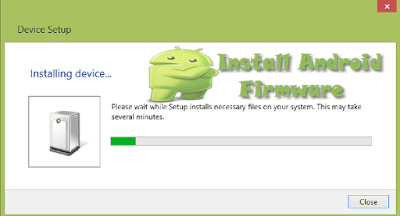 installing the device driver and recognizing