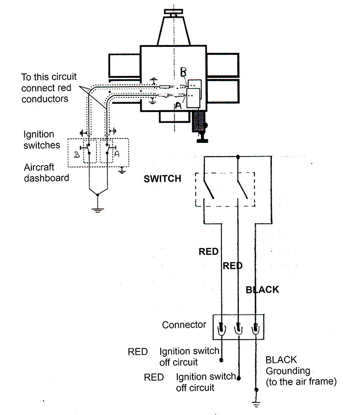 Special switch for closed contact engine for Delta, (Trike