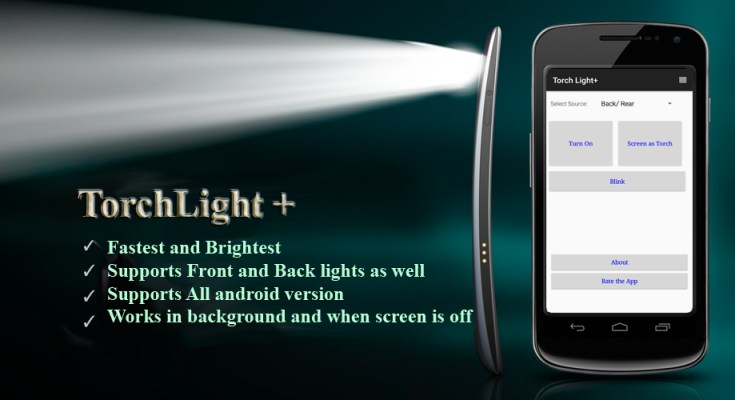 Torchlight / flashlight android app