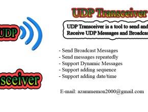 UDP Transceiver Features