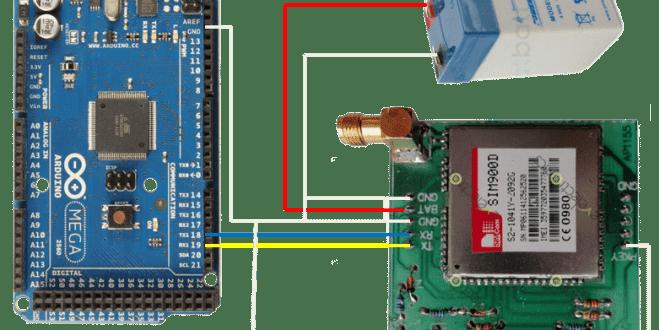 Interfacing SIM900D GSM Module with Arduino Mega 2560