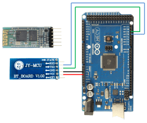 Interfacing bluetooth HC-05 with Arduino, Connection Diagram - JY-MCU