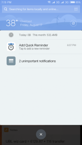 Notifications marked as unimportant on Xiaomi phones