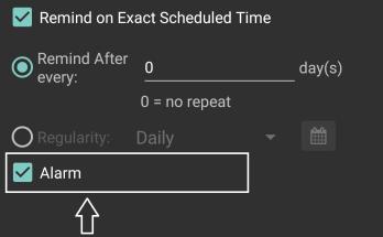 Reminder app with Alarm