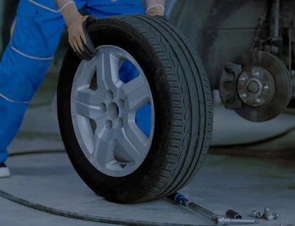 Changing tire