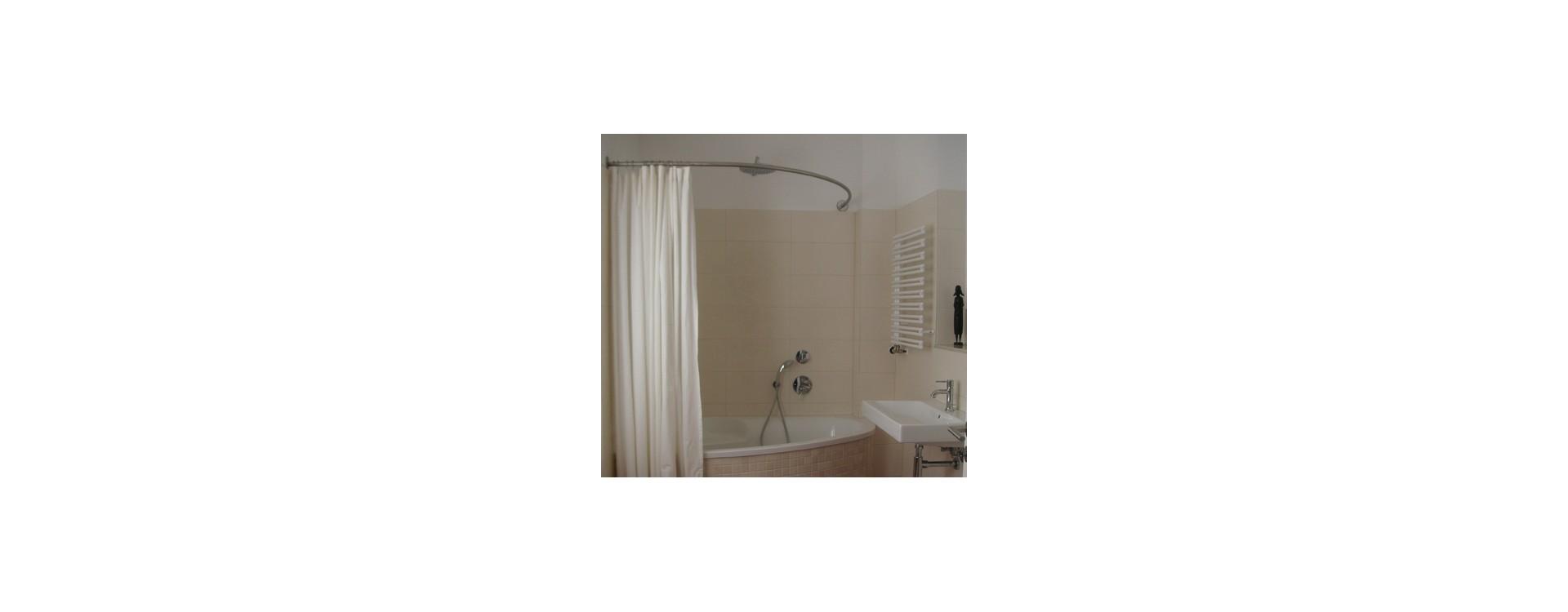 tringle rideau de douche surmesure baignoire asymtrique  GalboBain