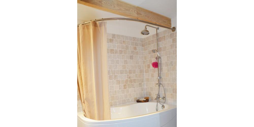 barre rideau de douche pour baignoire