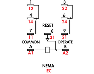 120 Volt 8 Pin Relay Wiring Diagram