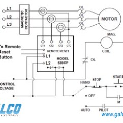 Franklin Electric Motor Wiring Diagram 1993 Chevy 1500 520cp-230 - Symcom Protection Relays | Galco Industrial Electronics