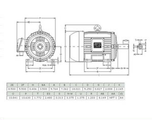5 Hp 213t Frame Electric Motor Wiring Diagram : 45 Wiring