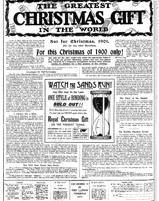 Christmas, Daily Mail, 1900