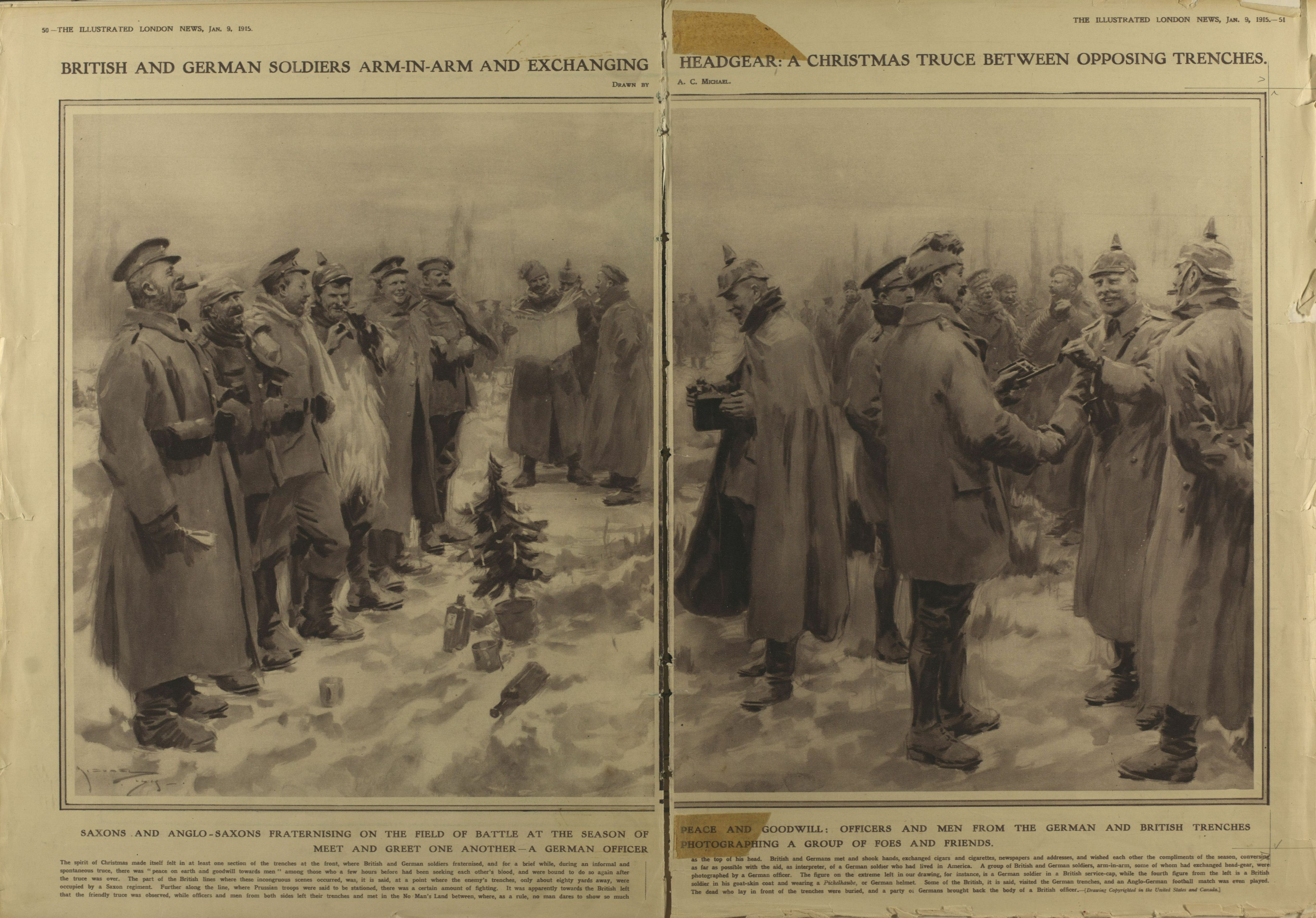 Newspaper Coverage From the Christmas Truce 1914