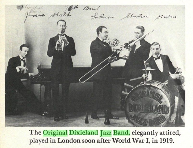 The Original Dixieland Jazz Band – Centenary of the first Jazz record
