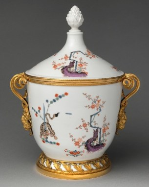 Ice cream pail (one of a pair); German (Meissen) with Italian (Rome) mounts; porcelain c. 1730, mounts c. 1780–90. From the Metropolitan Museum of Art (New York).
