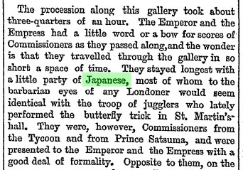 "(FROM OUR SPECIAL CORRESPONDENT.). ""Opening Of The Paris Exhibition."" Times, 3 Apr. 1867, p. 5. The Times Digital Archive"