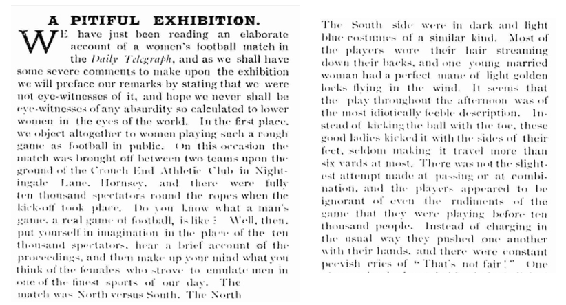 """""""A PITIFUL EXHIBITION."""" Hearth and Home [UKP], 4 Apr. 1895, p. 738. 19th Century UK"""