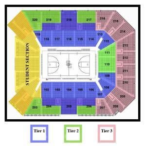 Seating Diagram | Galen Center